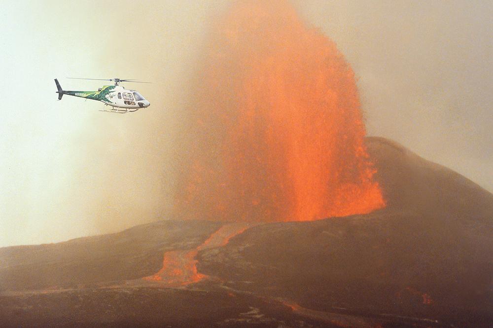 safari volcano erupt